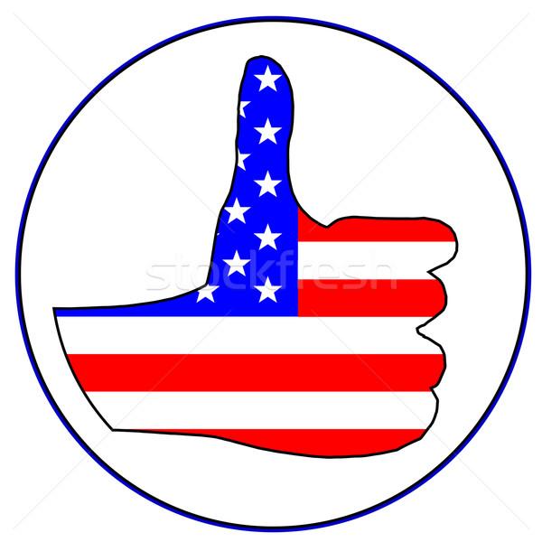 Thumbs Up America Stock photo © Bigalbaloo