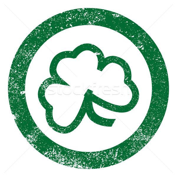 Shamrock folha carimbo sortudo irlandês borracha Foto stock © Bigalbaloo