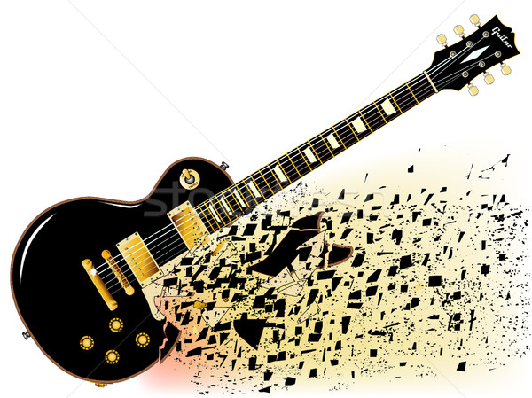 Shattering Blues Guitar Stock photo © Bigalbaloo