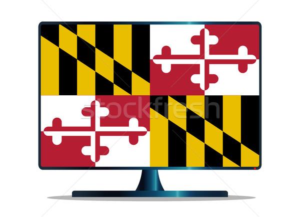 Maryland Flag TV Stock photo © Bigalbaloo