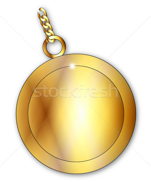 Stock photo: Blank Lucky Gold Charm