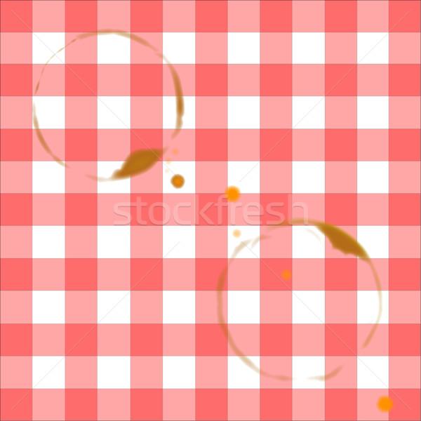 скатерть кольца два питьевой Кубок Сток-фото © Bigalbaloo