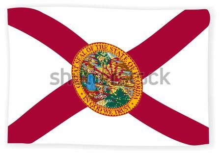 Florida bandera EUA cruz arte tropicales Foto stock © Bigalbaloo