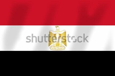 Egypt Flag Stock photo © Bigalbaloo