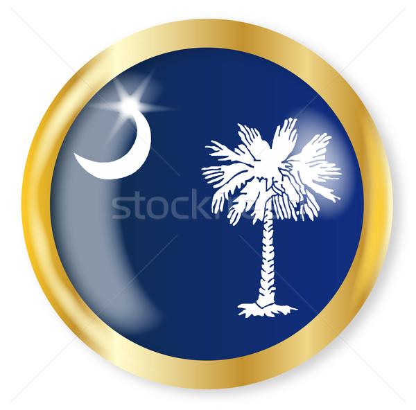 Carolina del Sud bandiera pulsante oro metal Foto d'archivio © Bigalbaloo