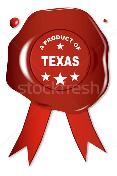 產品 得克薩斯州 蠟 密封 文本 紅色 商業照片 © Bigalbaloo