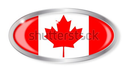 Canadian Flag Oval Button Stock photo © Bigalbaloo