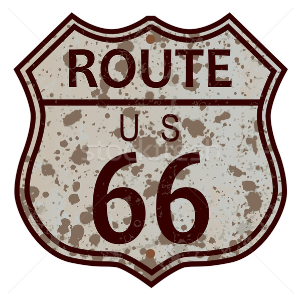 Weathered Route 66 Sign Stock photo © Bigalbaloo