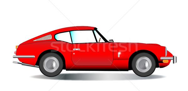 öreg felső sportautó klasszikus brit piros Stock fotó © Bigalbaloo