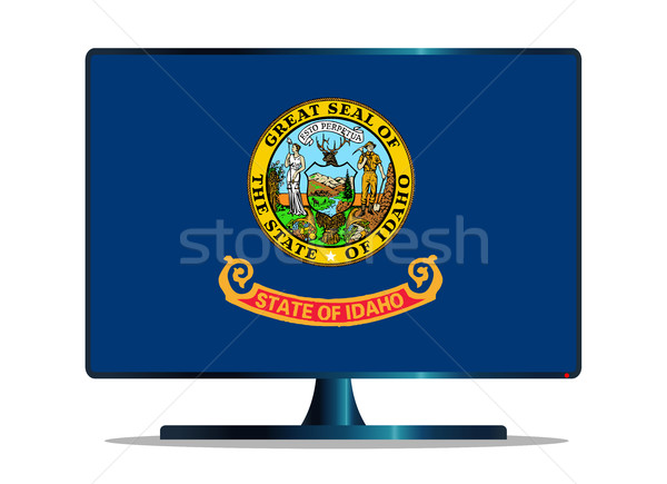 Idaho Flag TV Stock photo © Bigalbaloo