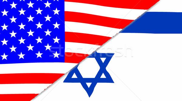 USA bandiere americano sfondo blu star Foto d'archivio © Bigalbaloo