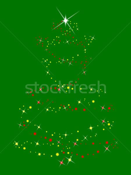 Sparkle Tree Stock photo © Bigalbaloo