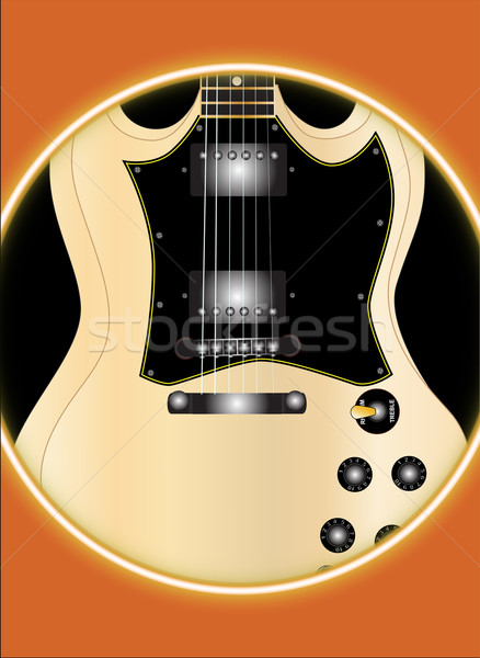 Solid Guitar Stock photo © Bigalbaloo