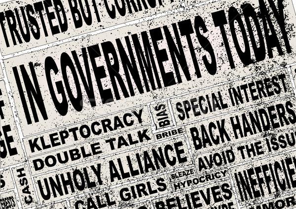 Правительство Последние новости коллаж заголовок слов Сток-фото © Bigalbaloo
