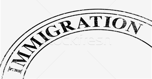 Immigration Stamp Stock photo © Bigalbaloo