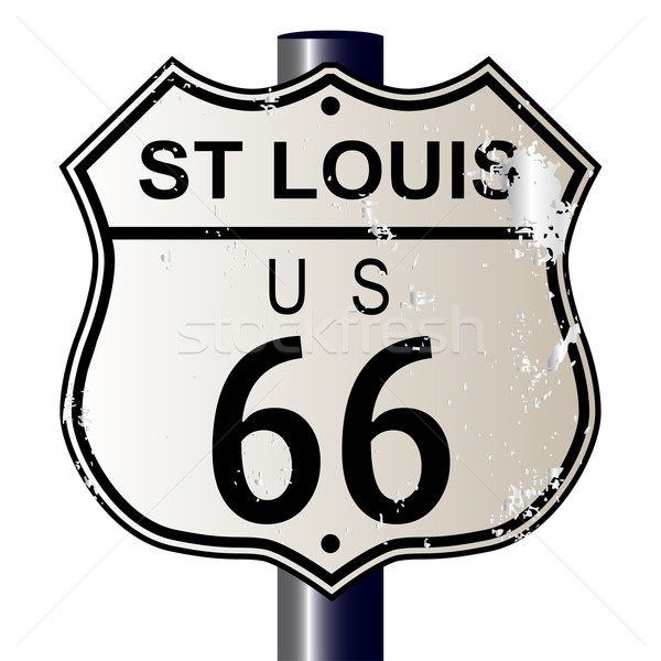 St Louis Route 66 Sign Stock photo © Bigalbaloo