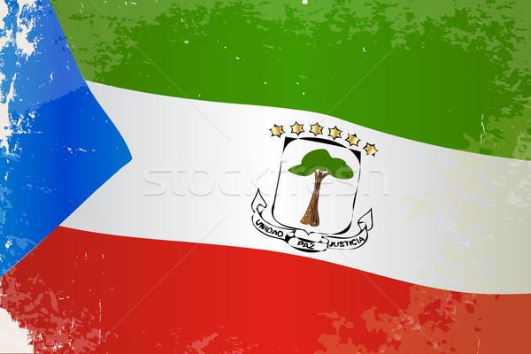 Guiné Equatorial bandeira grunge africano país África Foto stock © Bigalbaloo