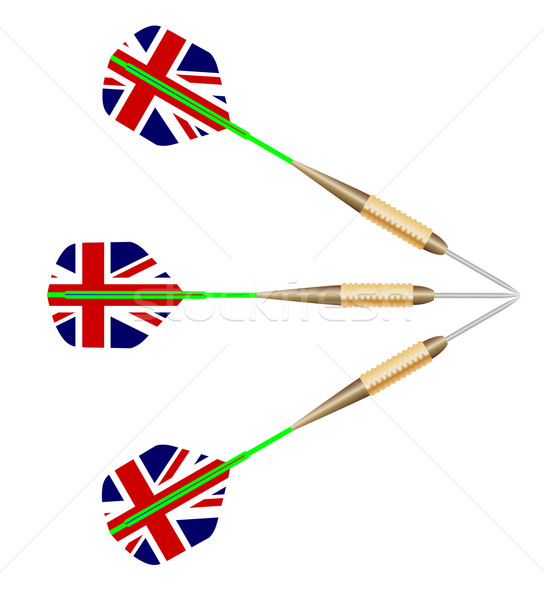 Darts With Union Jack Flag Stock photo © Bigalbaloo