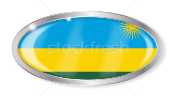 Руанда флаг овальный кнопки серебро изолированный Сток-фото © Bigalbaloo