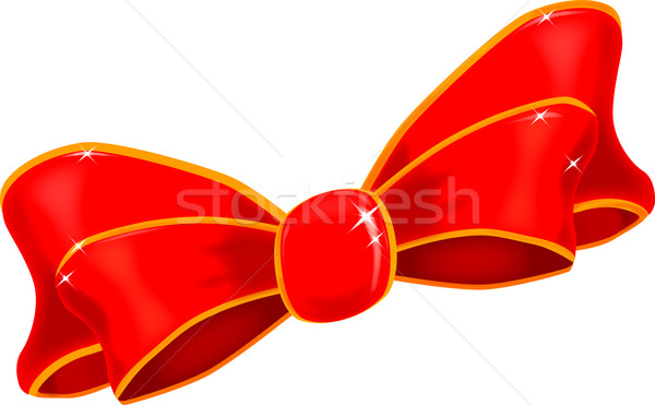 Stock photo: Red Silk Bow