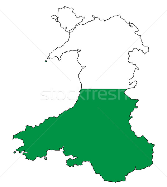 Wales Outline Stock photo © Bigalbaloo