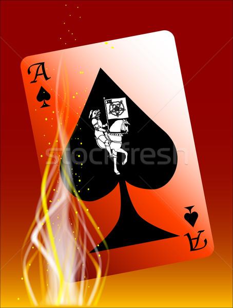 Ardente morte cartão abstrato ás spades Foto stock © Bigalbaloo