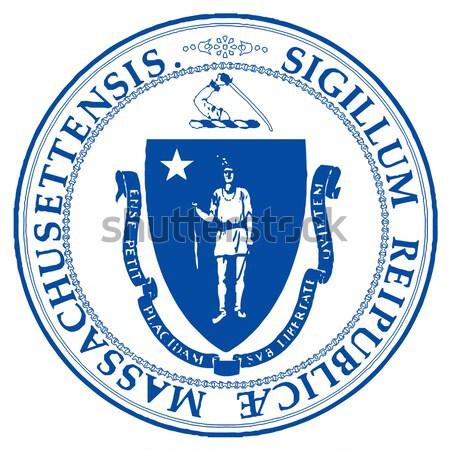 Sello Massachusetts blanco dibujo Foto stock © Bigalbaloo