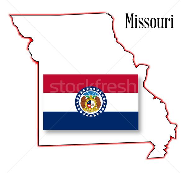Missouri carte pavillon art Photo stock © Bigalbaloo