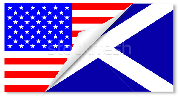 United States and Scotland Flags Combined Stock photo © Bigalbaloo