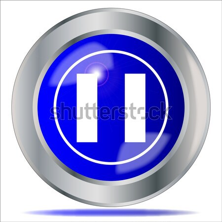 Pause Icon Button Stock photo © Bigalbaloo