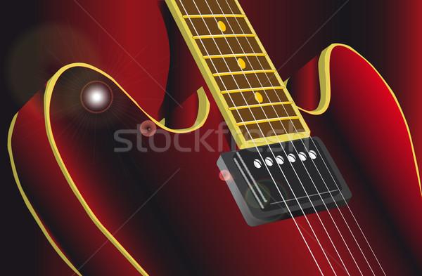 Klasik tipik caz hüzün gitar Stok fotoğraf © Bigalbaloo