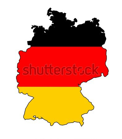 German Flag Map Stock photo © Bigalbaloo