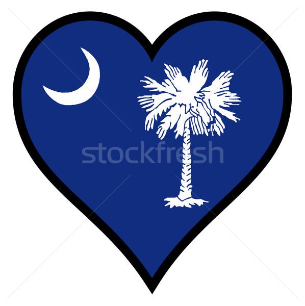 愛 サウスカロライナ州 フラグ 中心 白 ストックフォト © Bigalbaloo