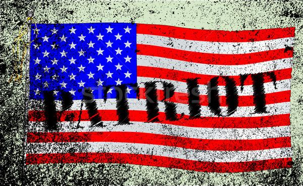 Patriote drapeau américain étoiles grunge effet Photo stock © Bigalbaloo