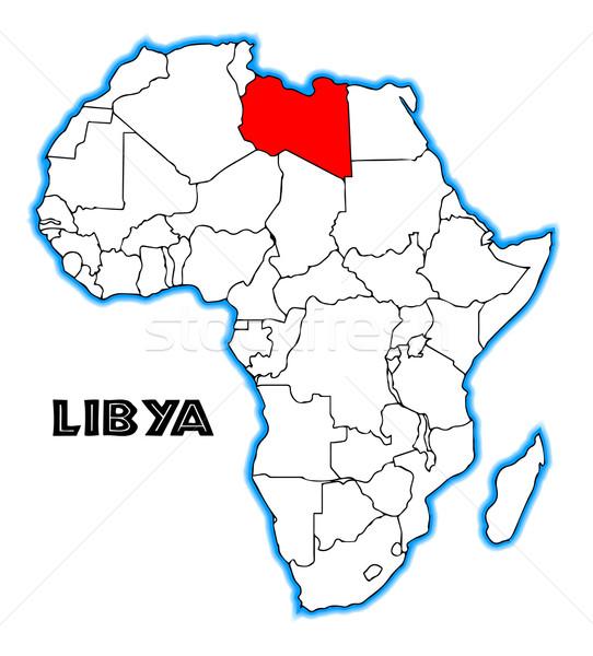Libia Pokaż Afryki biały czarny Zdjęcia stock © Bigalbaloo