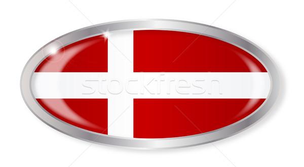 Vlag ovaal knop zilver geïsoleerd witte Stockfoto © Bigalbaloo