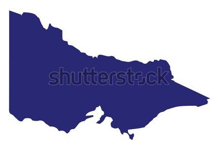 Australia Victoria State Silhouette Stock photo © Bigalbaloo