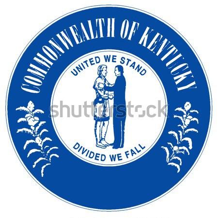 Sigillo Kentucky bianco disegno Foto d'archivio © Bigalbaloo