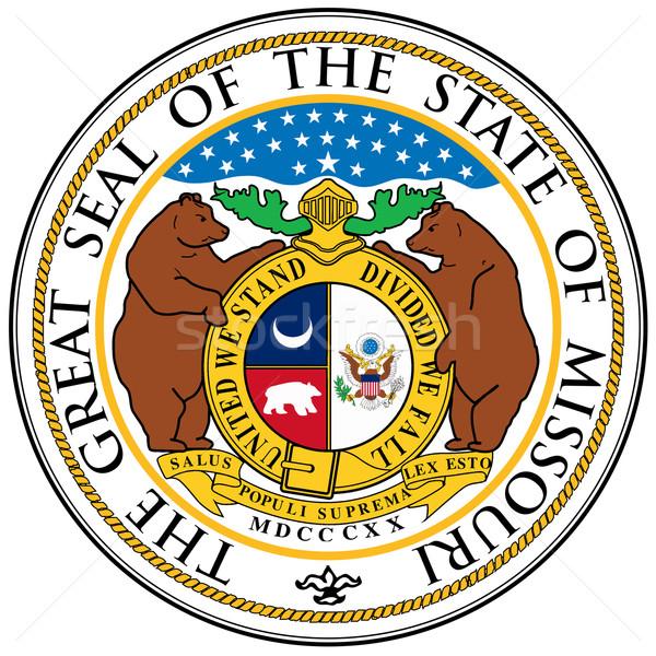 Missouri sceau magnifique dessin États-Unis isolé Photo stock © Bigalbaloo