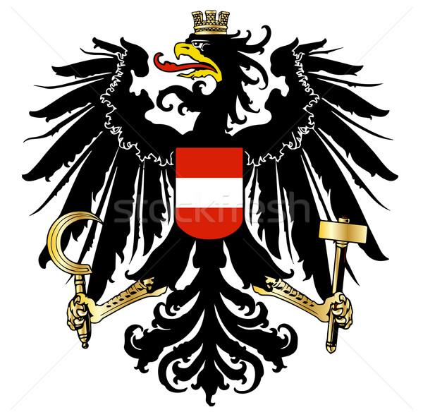 Austrian  Coat of Arms Stock photo © Bigalbaloo