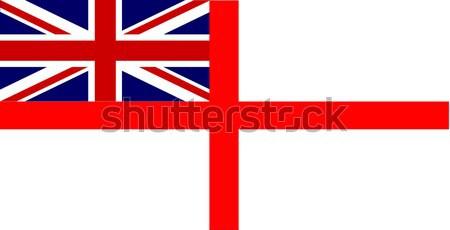 Beyaz İngiliz bayrağı bayrak kırmızı grafik İngilizce Stok fotoğraf © Bigalbaloo