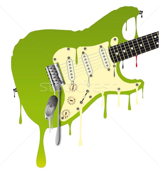 Melting Guitar Stock photo © Bigalbaloo