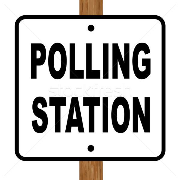 Polling Station Sign Stock photo © Bigalbaloo