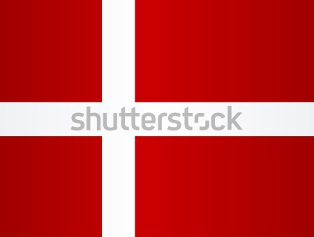 Bandeira Dinamarca vermelho branco atravessar fundo Foto stock © Bigalbaloo