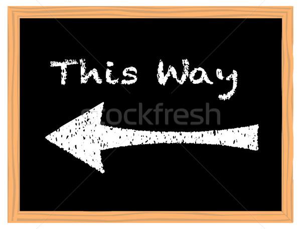 This Way Chalk Board Stock photo © Bigalbaloo