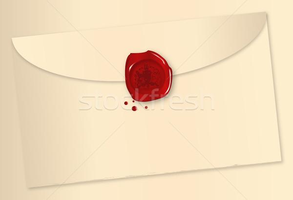 Wax Sealed Envelope Stock photo © Bigalbaloo
