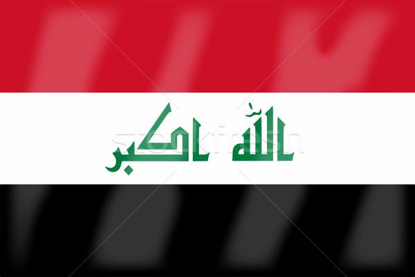 Flag of Iraq Stock photo © Bigalbaloo
