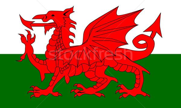 Welsh Dragon Flag Stock photo © Bigalbaloo