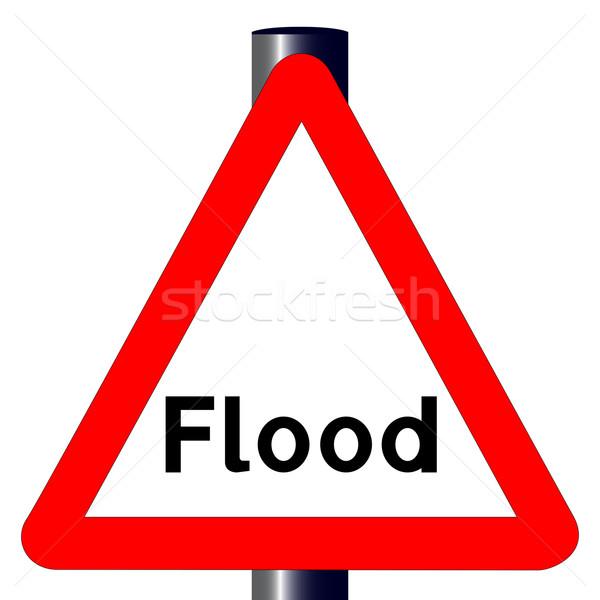 Flood Traffic Sign Stock photo © Bigalbaloo