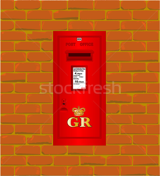 Wall Mounted Post Box Stock photo © Bigalbaloo